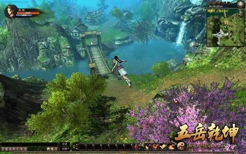 沿途可以看到游戏内风景